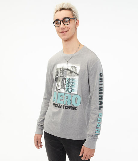 Long Sleeve Aero New York Graphic Tee