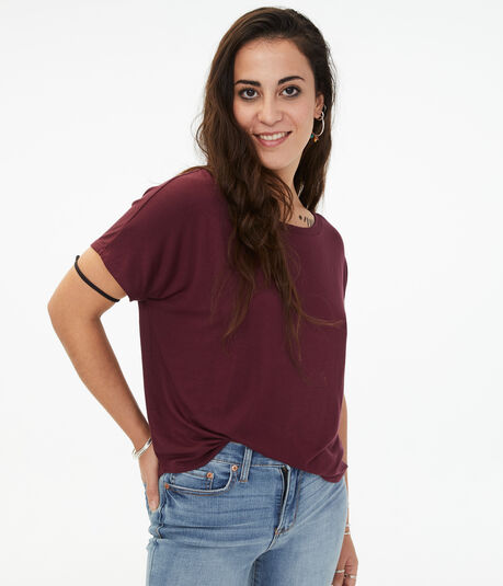 Seriously Soft Dolman Crew Tee***