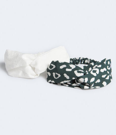Animal Print & Solid Headband 2-Pack