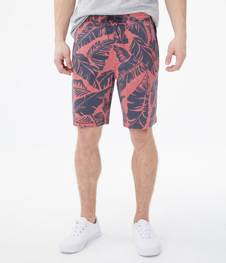 "Palm Leaves 9"" Stretch Jogger Shorts"