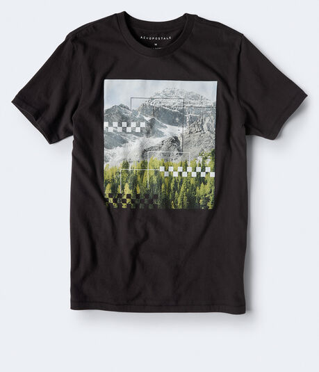 Checkered Mountain Graphic Tee