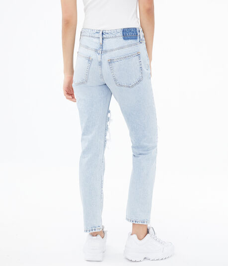 Real Denim Low-Rise Boyfriend Ankle Jean