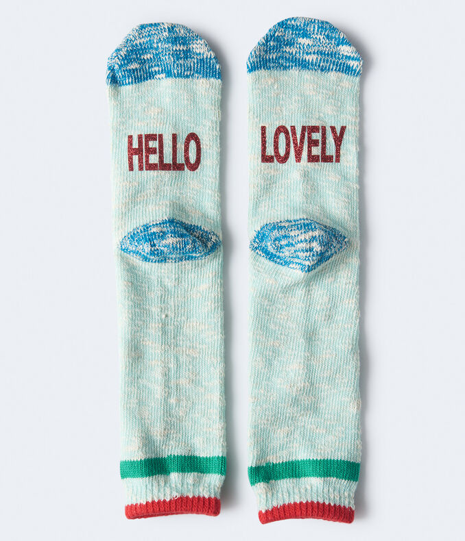 Hello Lovely Marled Boot Socks***