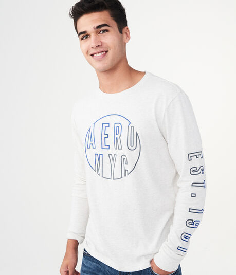 Long Sleeve Aero NYC Circle Graphic Tee