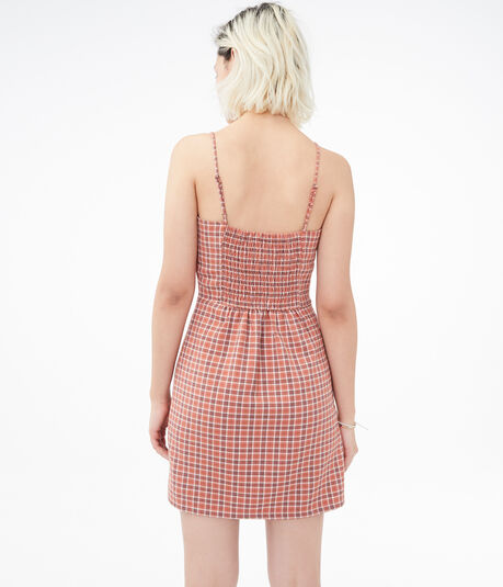Plaid Mini Slip Dress