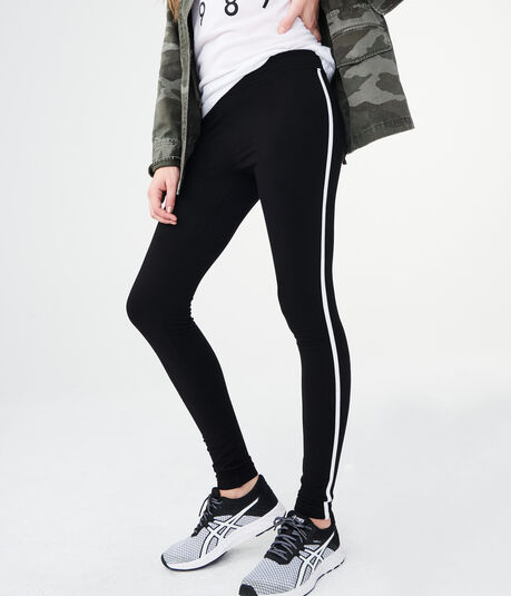 High-Waisted Side-Stripe Leggings