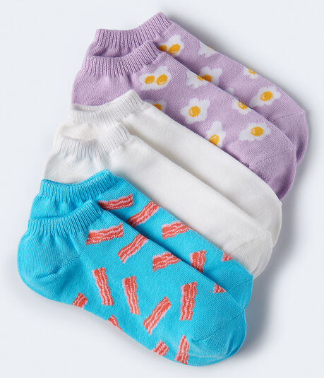 Bacon & Eggs Ankle Sock 3-Pack