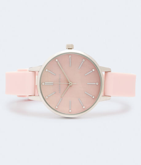 Marbled Rubber Analog Watch***