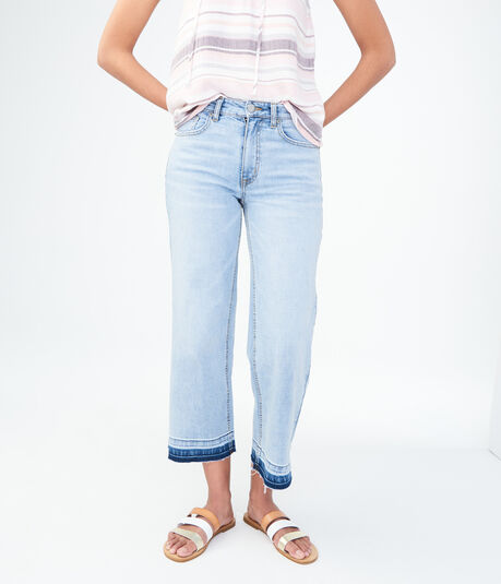 High-Waisted Wide-Leg Crop Jean