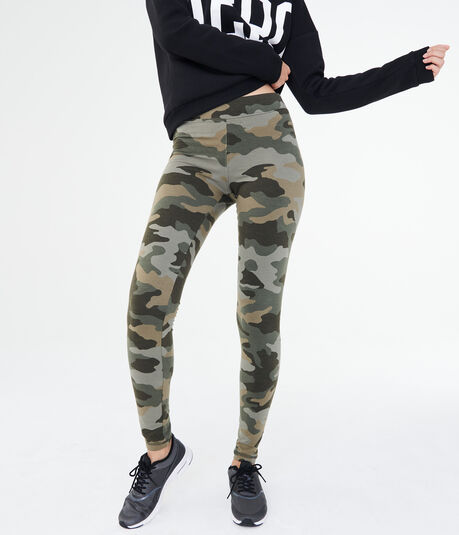 High-Waisted Camo Leggings