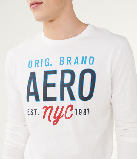 Long Sleeve Aero Orig. Brand Logo Graphic Tee***