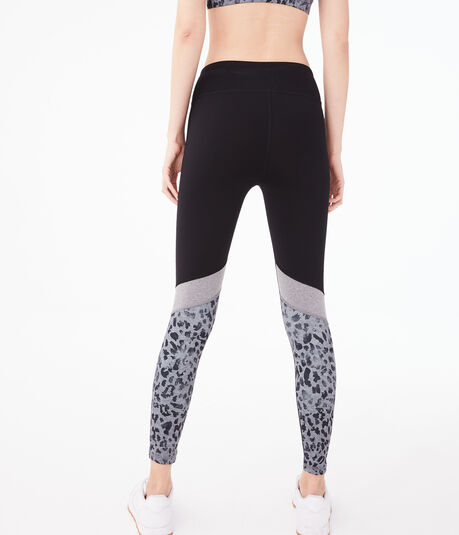 Colorblocked Leopard Leggings