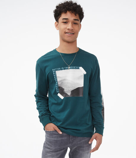 Long Sleeve Better In The Mountains Graphic Tee
