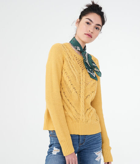 Solid Cable Sweater