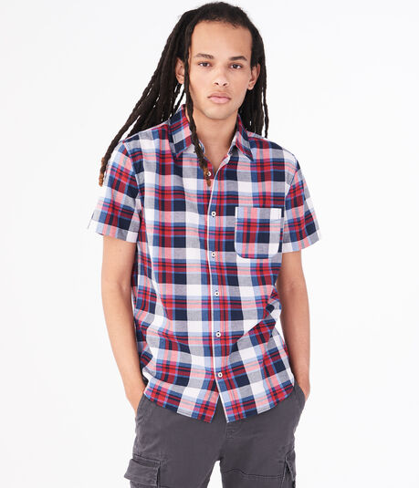 Americana Plaid Button-Down Shirt