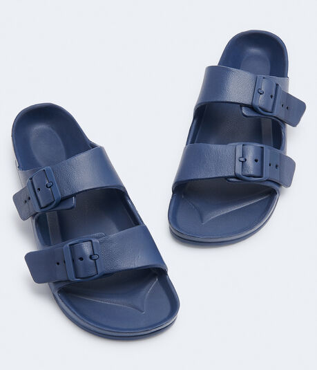 Double-Strap Slide Sandal