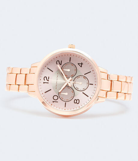 Chrono Round Metal Analog Watch