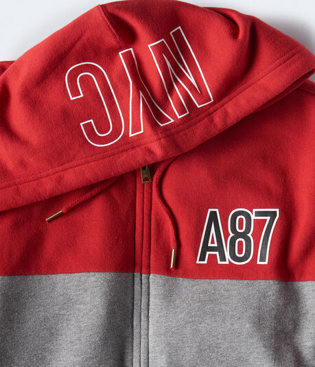 A87 Colorblocked Full-Zip Hoodie