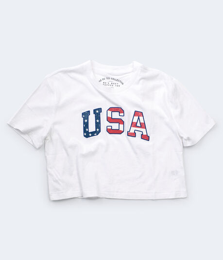 USA Cropped Boxy Tee