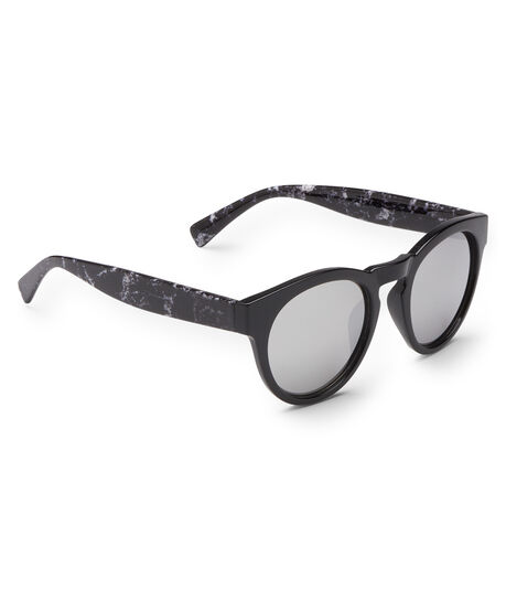 Round Marble Temple Sunglasses