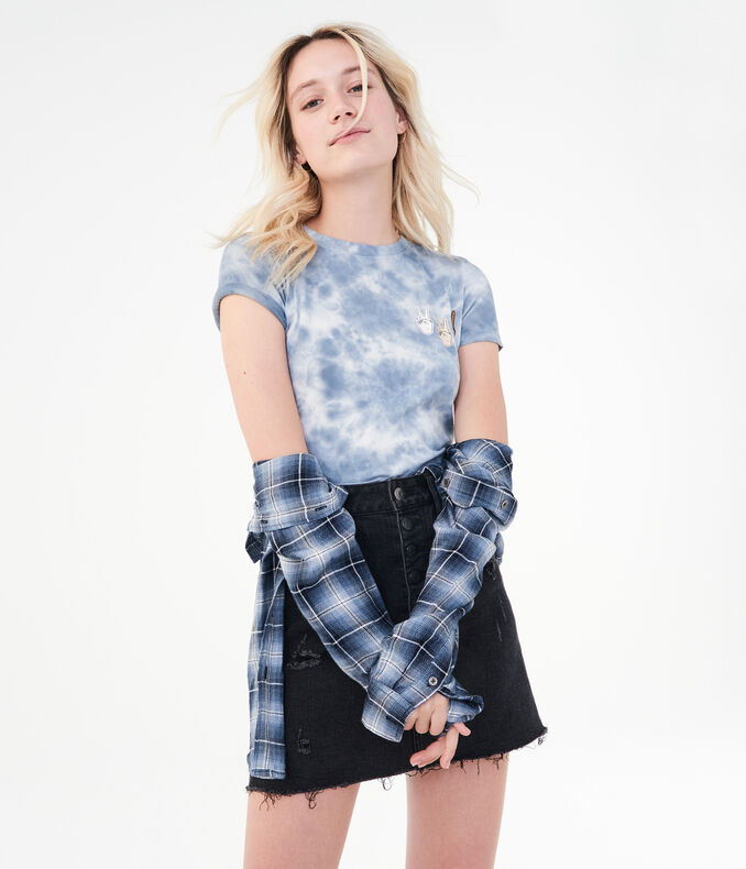 Peace Sign Tie-Dye Graphic Tee