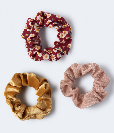 Metallic Scrunchie 3-Pack