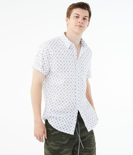 Geometric Circle Button-Down Shirt