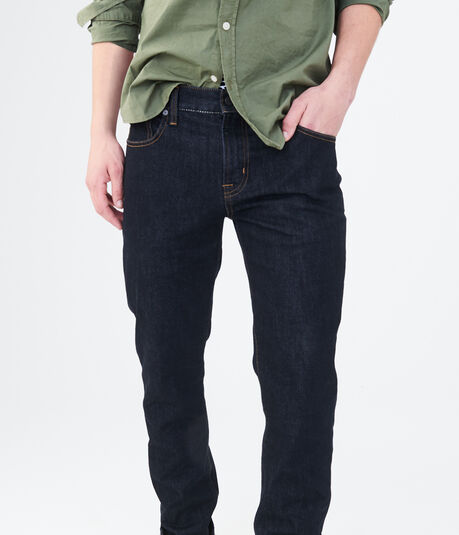 Slim Straight Dark Wash Stretch Jean