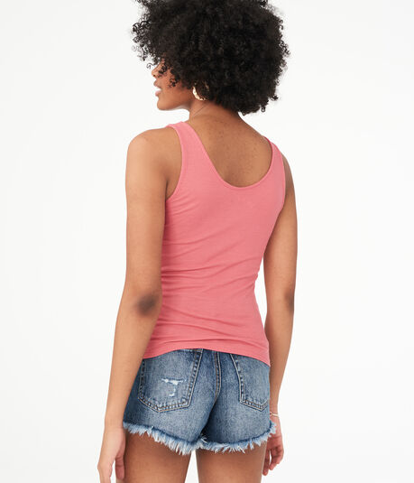 Seriously Soft Ribbed Lace-Up Tank***