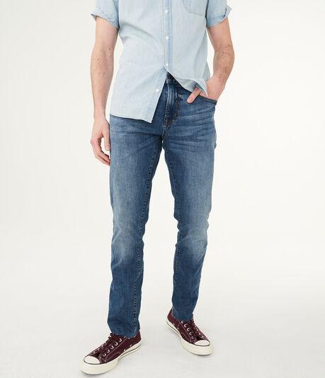 Slim Straight Dark Wash Stretch Jean***