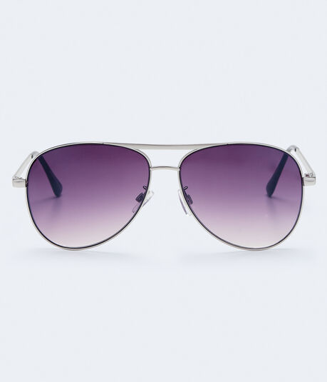 Dark Mirrored Lens Aviator Sunglasses***