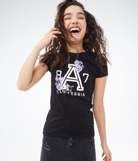 California Floral A87 Graphic Tee