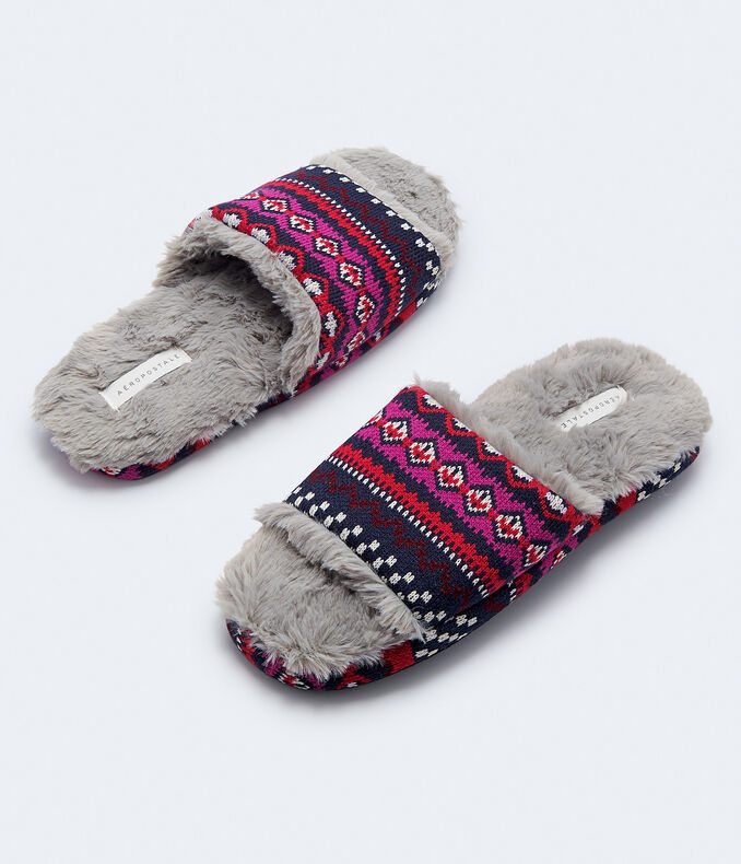 Patterned Slide Slipper