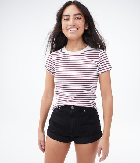 Striped '90s Slim Kate Crew Tee