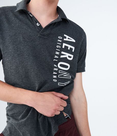 Vertical Graphic Jersey Polo