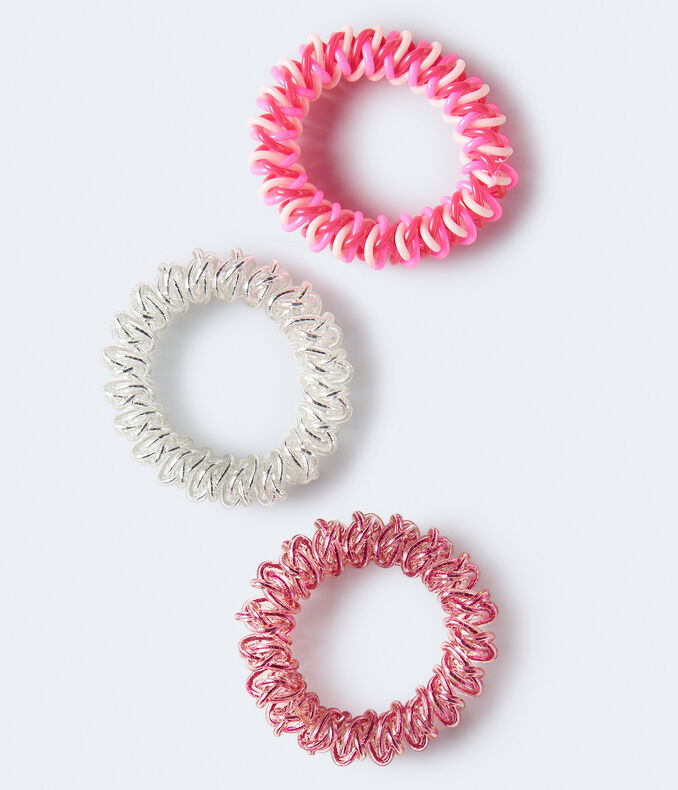 Twist Coil Hair Tie 3-Pack