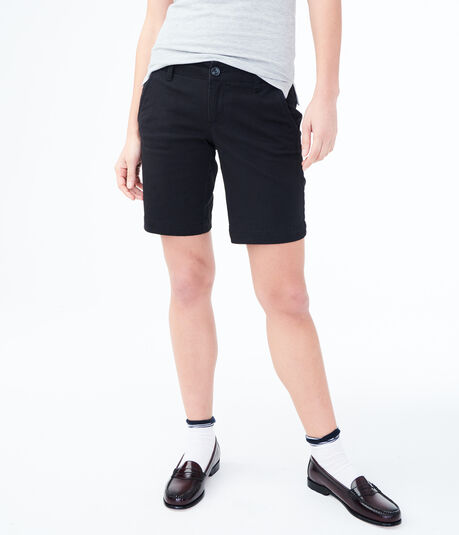 Curvy Uniform Bermuda Shorts***