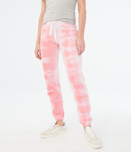 "Tie-Dye Aeropostale ""A"" Cinch Sweatpants"