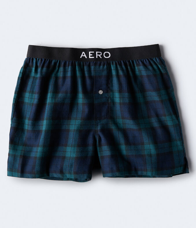 Black Watch Plaid Flannel Woven Boxers
