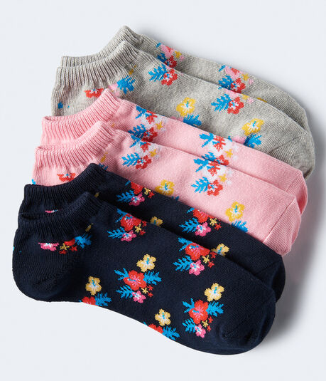 d0e5b472bdc 3-Pack Floral Ankle Socks    ...