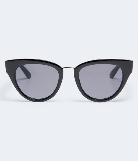 Solid Plastic Cateye Sunglasses