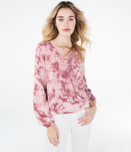 Long Sleeve Tie-Dye Top