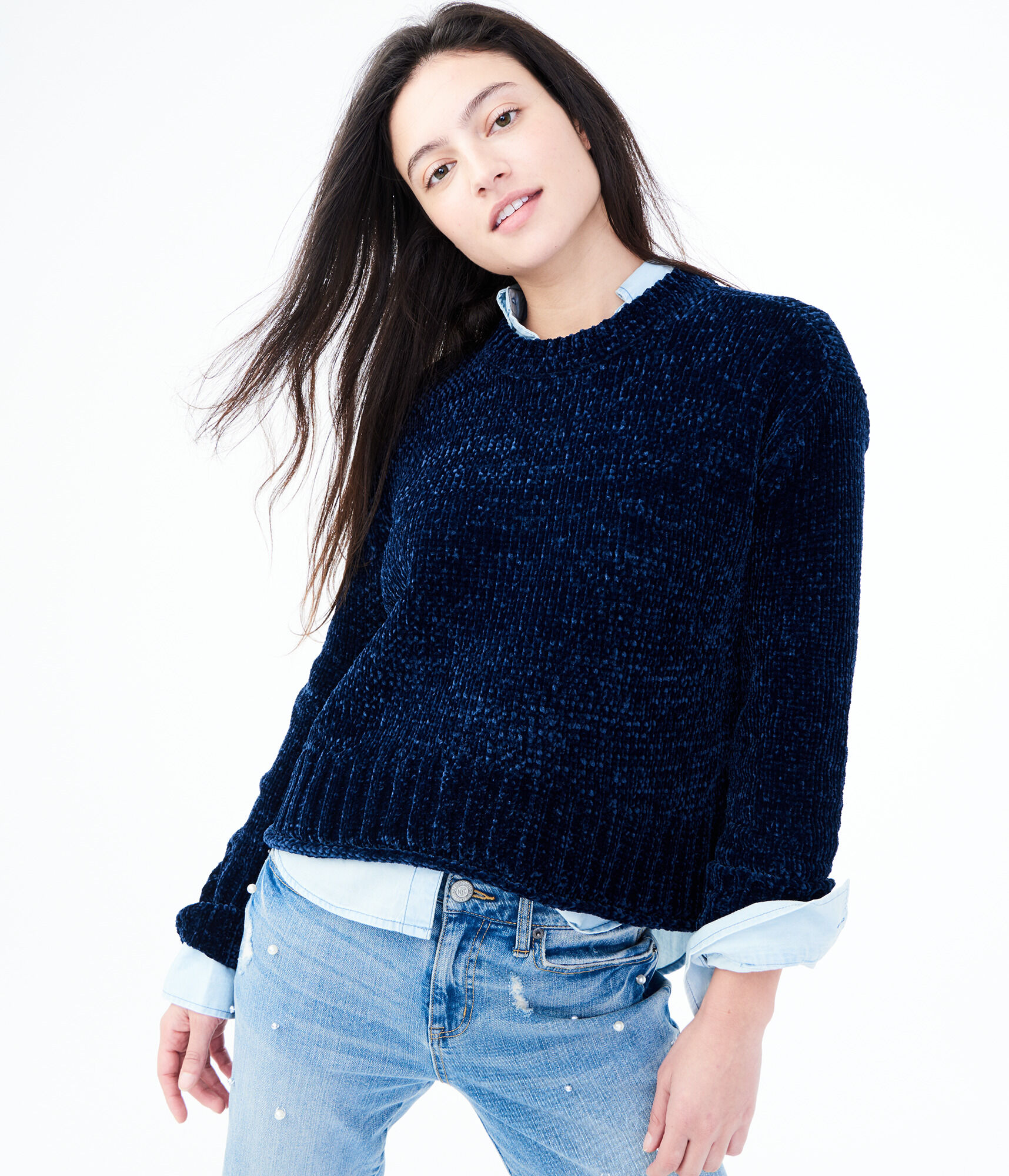 ... Final Sale -Solid Chenille Sweater ... 2ee289225