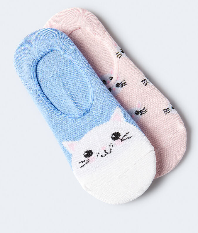 Kitty Cat No-Show Sock 2-Pack