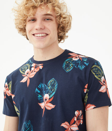 Tropical Floral Graphic Tee
