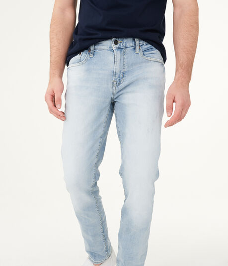 Slim Bleach Wash Stretch Jean