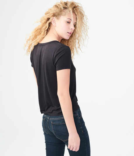 Seriously Soft Solid Lace-Up Girl Tee