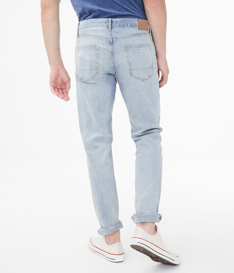 Straight Light Wash Stretch Jean