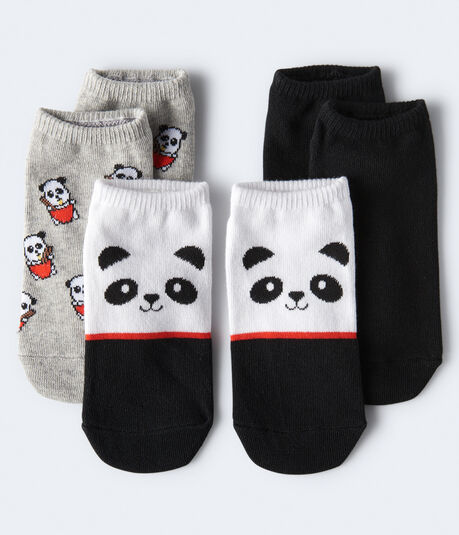 Ramen Pandas Ankle Sock 3-Pack