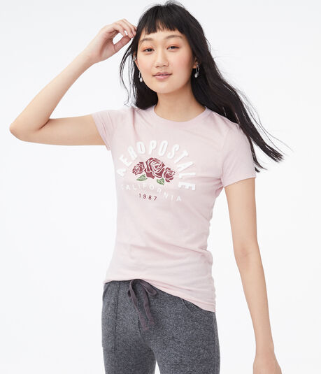 Aeropostale Arch Roses Graphic Tee